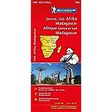 Michelin Zentral- und Südafrika, Madagaskar: Straßen- und Tourismuskarte 1:4.000.000 (MICHELIN Nationalkarten)