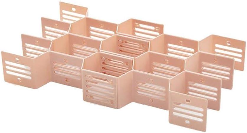 20# 10# Cajón Ajustable Tablero de Nido de Abeja Separador de la Caja Separador de la Caja Organizador de Almacenamiento de Rejilla DIY Bragas de clasificación Celular, Rosa: Amazon.es: Hogar