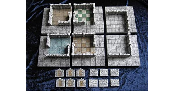 Amazon com: Dark City Dungeons 25mm Base Set SW: Toys & Games