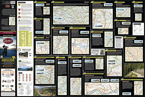Butler Motorcycle Maps Washington G1 Map, Best Paved and Dirt Roads in WA