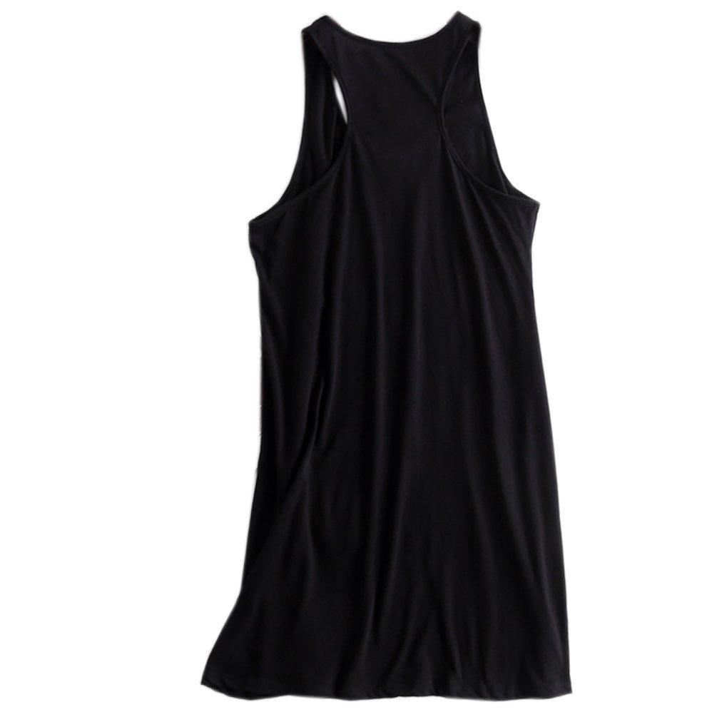 ENJOYNIGHT Sleeveless Nightgown for Women Cami Sleepwear Loose Nighties (L-XL, Black)