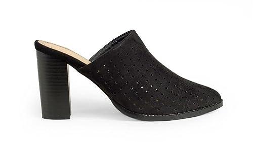 f612218b3 BOSANOVA Zapato Estilo Mules con Picados: Amazon.es: Zapatos y ...