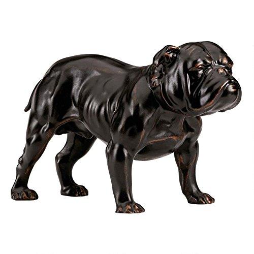 English Bulldog Bronze Finish Dog Statue Figure