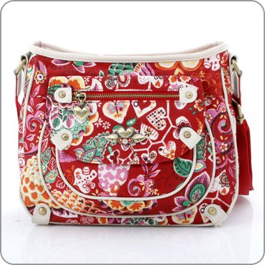 fdccfd23ee7 Oilily Bag - Painted Flowers Small Shoulderbag - Cherry - OL391CY:  Amazon.co.uk: Shoes & Bags