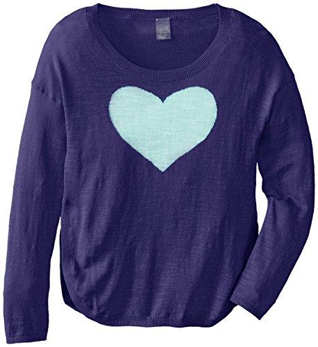Soybu Girl's Heart U Sweater, Jelly Bean, X-Large