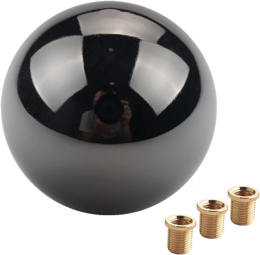 DEWHEL JDM枪-黑色镍圆形换档旋钮