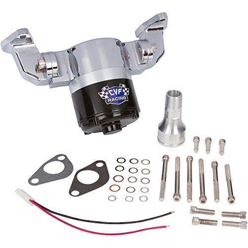 - Chevy Small Block Electric Water Pump - 35 GPM, Chrome Aluminum, 283, 327, 350, 400, SBC