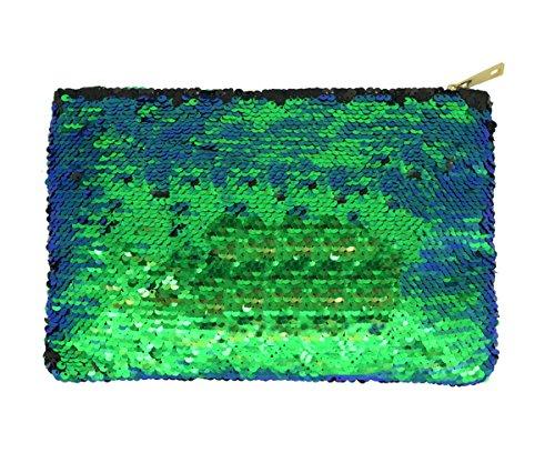 Sequin Clutch Purse - Magibag DIY Mermaid Sequin Cosmetic Bag Magic Glitter Handbag Bling Evening Party Clutch Purse