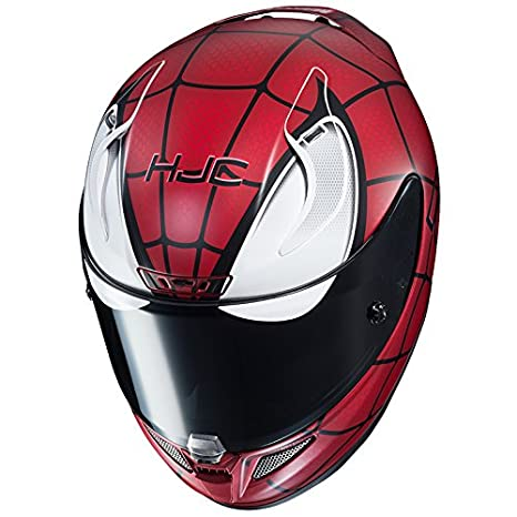Amazon.com: HJC RPHA-11 Pro Marvel Spiderman Helmet (MC-1SF, XX-Large) XF-21-1660-716: Automotive