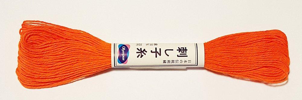 BRIGHT ORANGE # 22-20m Skein Japanese Embroidery /& Quilting Olympus Sashiko Thread