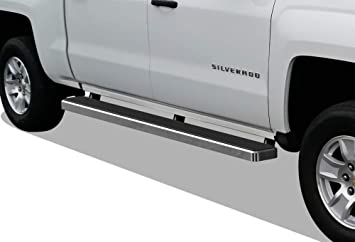 "For 2007-2018 Chevy Silverado GMC Sierra Double Cab 5/"" Oval Nerf Bar Side Step"