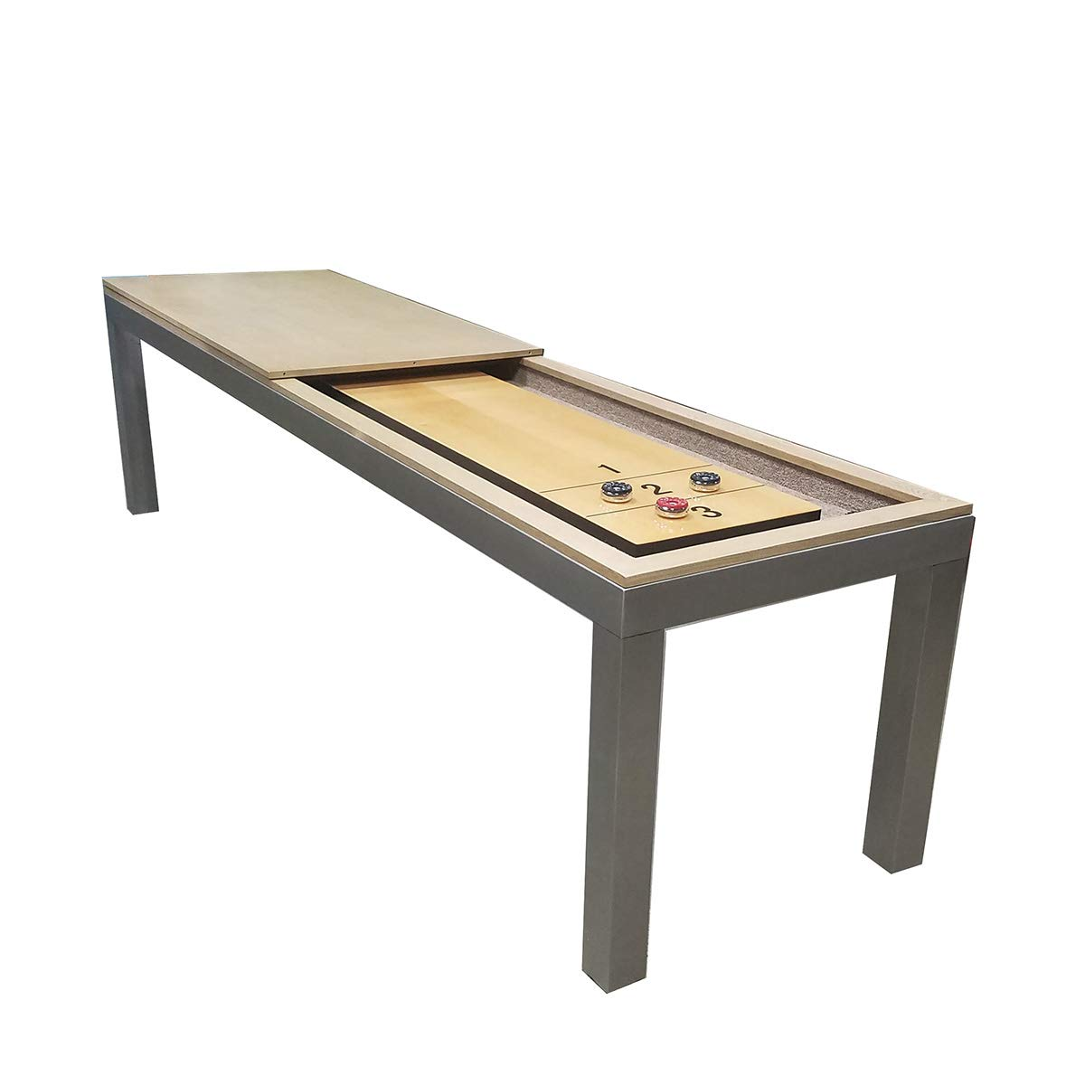 Game Room Guys 9' Stainless Shuffleboard with Dining Top by Game Room Guys