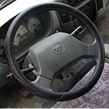 Nice Black Color Pu Leather Car Steering Wheel Cover 16 inch