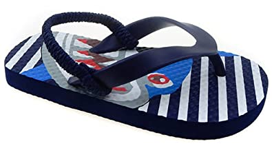 2e0b369ad6f1 Toddler Boys  Printed Beach Flip Flops with Heel Strap (Small 5 6