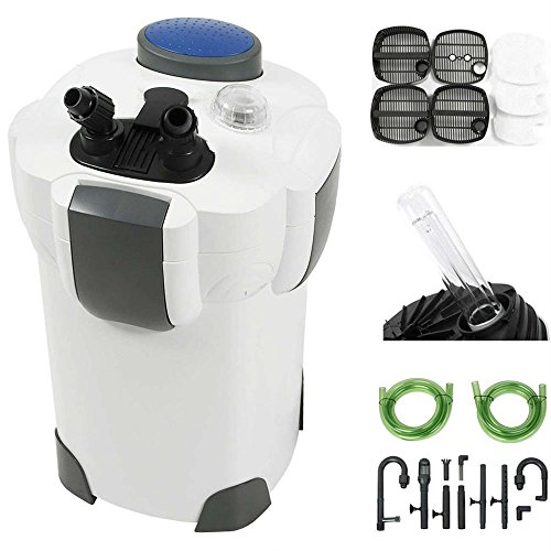 Aquarium Pumps & Filters 100 Gallon Aquarium Fish Tank Canister Filter + 9W UV Sterilizer 370 GPH (Designer Fish Tank)