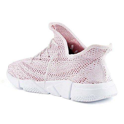 Rot Weiß Strick Herren Laufschuhe Sportschuhe Damen FiveSix Sneaker wCq17q
