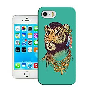 LarryToliver iphone 5/5s never stops dunking design case for Customizable Cats and tigers