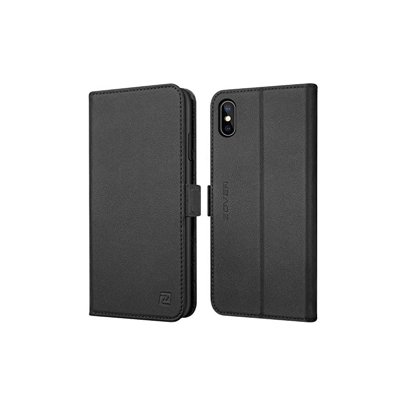 ZOVER Compatible iPhone Xs Max Case Leat