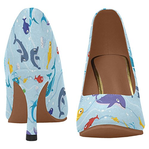 InterestPrint Womens Classic Fashion High Heel Dress Pump Shoes Multi 1 CDdXI5b5