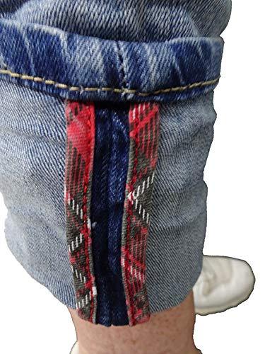 Destroyed Boyfriend Bottoni Denim By Baggy Quadri boyfriend Karostar Colori 4 jeans Lexxury Aperto Con Elasticizzato Altri wBE0zxx6q