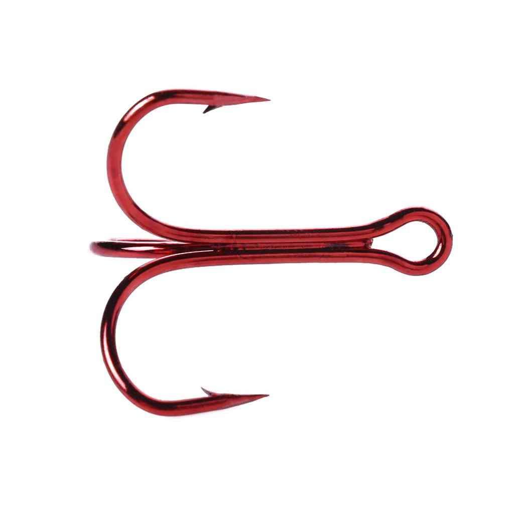 Vkospy 20pcs 3 Garra Fuerte Afilados Ganchos de Pesca de la Ronda Doblar el Metal de at/ún con ca/ña al Aire Libre Triple Agudos barbos