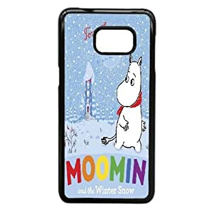 Back Skin Case Shell Samsung Galaxy S6 Edge Plus Cell Phone Case Black Moomin Valley Njpll Pattern Hard Case Cover