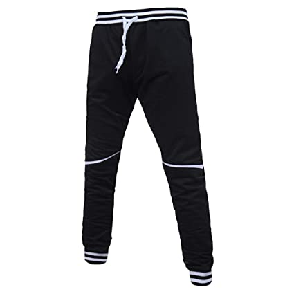 8adc2d9d0524ba Image Unavailable. Image not available for. Color: Allywit Mens Cotton  Zipper Sports Trousers Joggers Sweatpants Pants ...