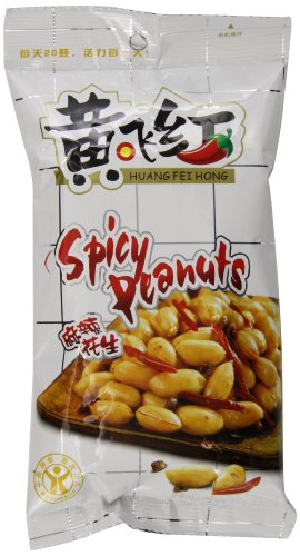 Huang Fei Hong Spicy Crispy Peanut, 3.38 Ounce (Pack of 4) by HuangFeiHong