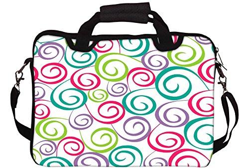 Snoogg floral nahtlose Muster Gedruckt Notebook-Tasche mit Schultergurt 13 bis 13,6 Zoll
