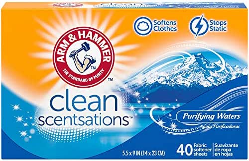 Dryer Sheets: Arm & Hammer Clean Scentsations