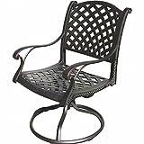 K&B PATIO LD1031-11 Nassau Swivel Rocker Chair, Antique Bronze