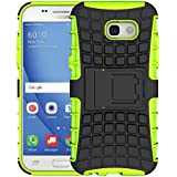 Samsung A5 2017 Case, La Farah Heavy Duty Shockproof Phone Case with Kickstand,Protective Phone Cover for Samsung Galaxy A5 2017 (Green)
