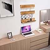 Y&Me Set of 3 Jewelry Organizer Wall Mounted,Wood