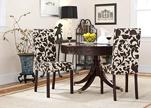 - Safavieh Hudson Collection Side Chairs, Chelsea Cream and Brown, Set of 2