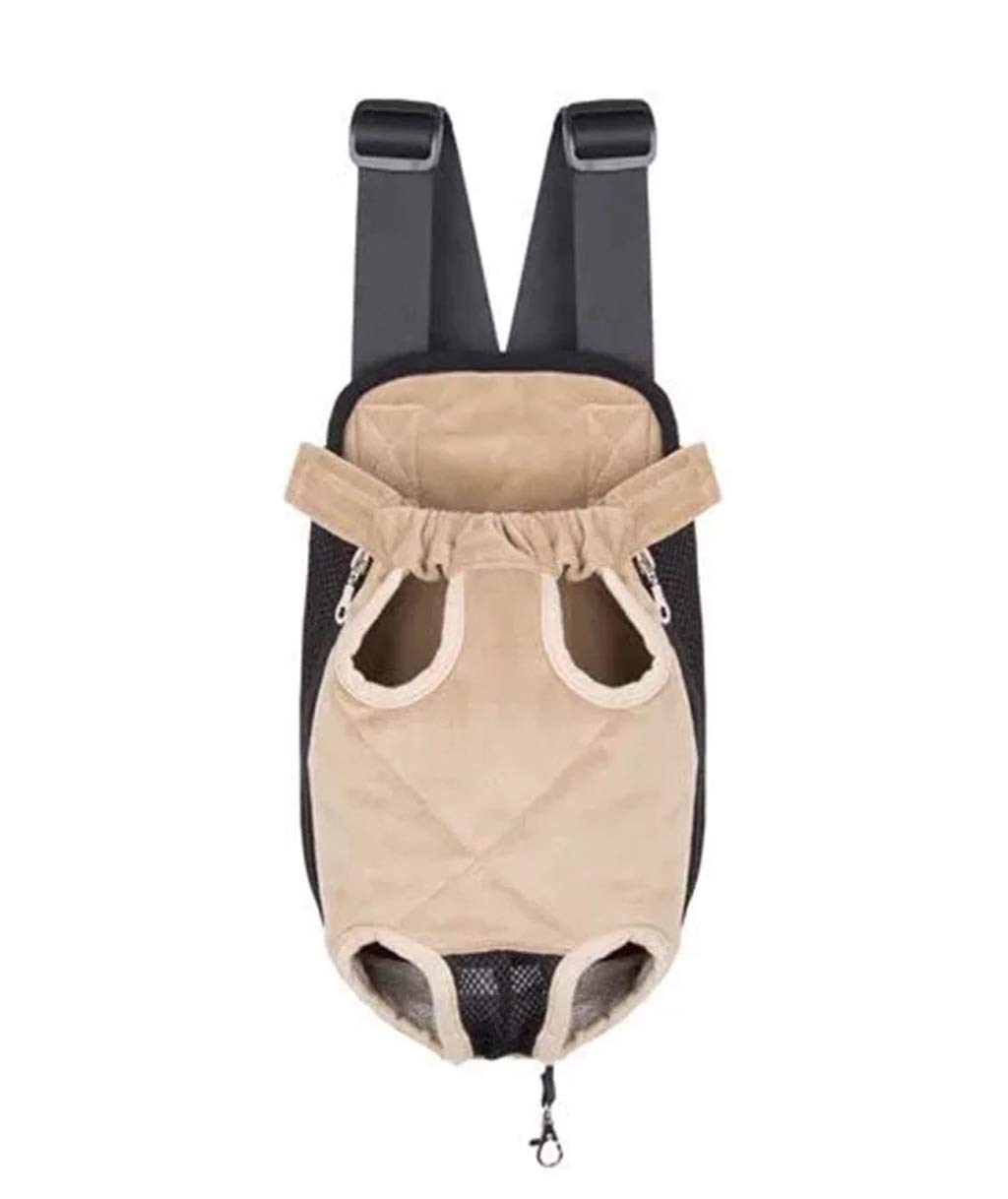 Brown Pet Chest Backpack, Outing Cat Dog Carrying Bag, Backpack, bluee (color   Brown)