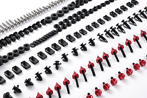 Moto Onfire 118Pcs Red Fairing Bolt Kit Fasteners Screws For DUCATI SUPERSPORT 620 750 900 1991-1998