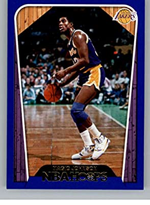 49518031851 2018-19 NBA Hoops Blue #283 Magic Johnson Tribute Los Angeles Lakers  Official Trading Card made by Panini