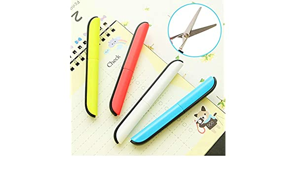 Buy Cheap Scissor Student Kid Fold Stationery Paper Cut Safe Blunt Tip Protect Portable Office Diy School Home Art Child Preschool Photo Hand Tools