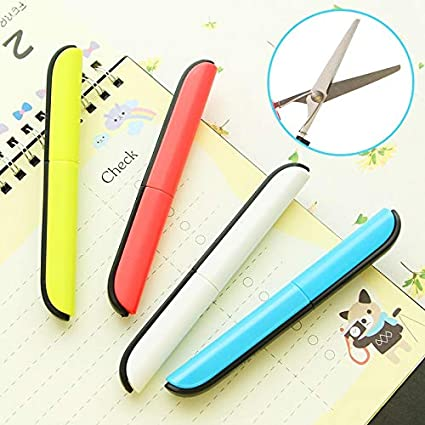Scissor Student Kid Fold Stationery Paper Cut Office Diy School Home Art Child Preschool Photo Safe Blunt Tip Protect Portable Scissors Tools