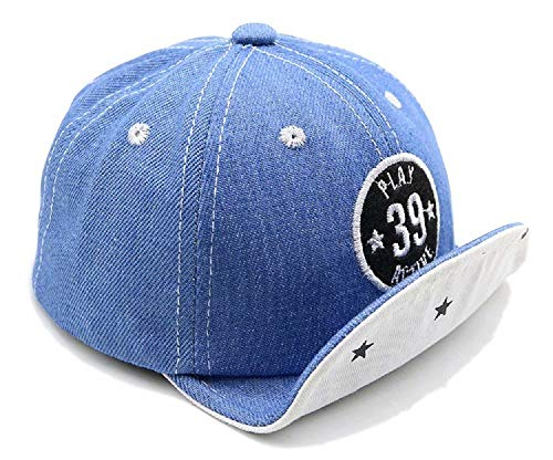 6-24 Month Baby Jean Fabric Baseball Cap Embroidery Character Soft Brim Flanging Sun hat