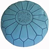 Moroccan Pouf, Pouffe, Ottoman, Poof, Color : Light Blue