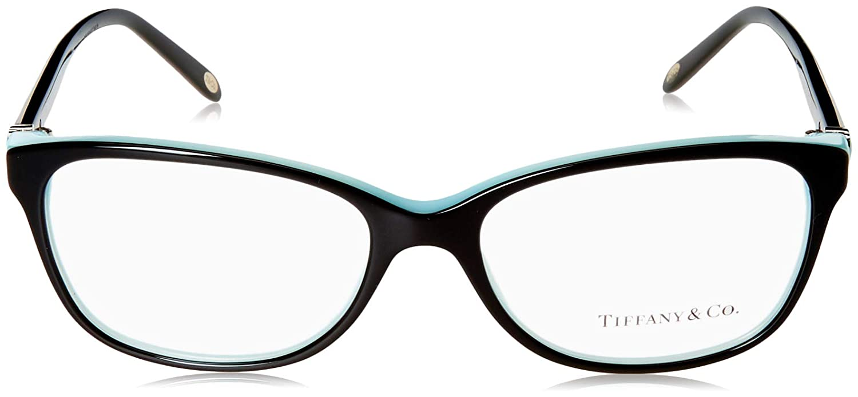 fa849fee5e36 Amazon.com  Tiffany   Co. TF2097 - 8055 Eyeglass BLACK BLUE W  Clear Demo  Lens 54mm  Shoes