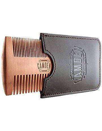 Peine para barba ultraligero de madera de peral de Camden Barbershop Company ○ estuche incluido ○