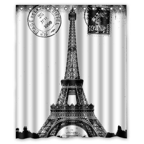 Custom Frech Eiffel Shower Curtain product image