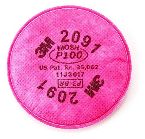 3M 2091 P100 Particulate Filter, 4 PCS 2 pairs ()