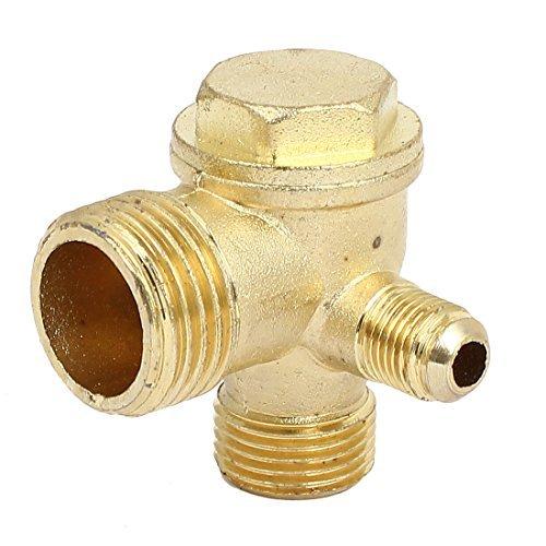 - DealMux 3 / 8BSP x 1 / 2BSP x 1 / 4BSP Masculino fios de metal Air Compressor Válvula