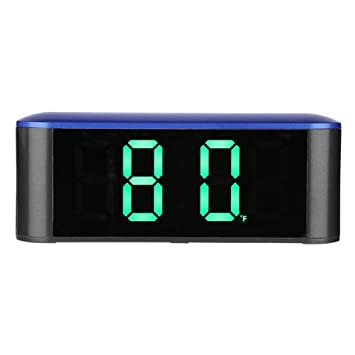 Vosarea Reloj Despertador de Mesa LED Digital con Reloj de Espejo y medición de Temperatura para Oficina doméstica (Azul): Amazon.es: Electrónica