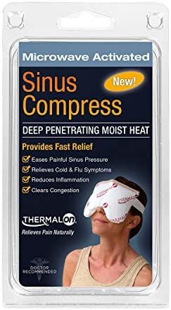 Thermalon Microwave Activated Moist Heat-Cold Sinus Mask for Sinus Pressure, Headaches, TMJ, 5.5