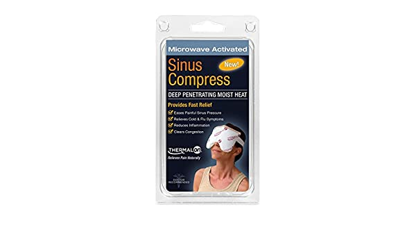 Thermalon Microwave Activated Moist Heat-Cold Sinus Mask for Sinus Pressure, Headaches, TMJ, 5.5 X 8 by Thermalon: Amazon.es: Salud y cuidado personal
