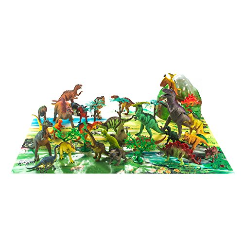 Fun Central AZ990, 40 Pcs Assorted Toys, Animal Planet Toy, Dinosaur Toy, Plastic Dinosaurs, Jumbo Dinosaurs, Dinosaur Toys for Kids, Dinosaur Skeletons -